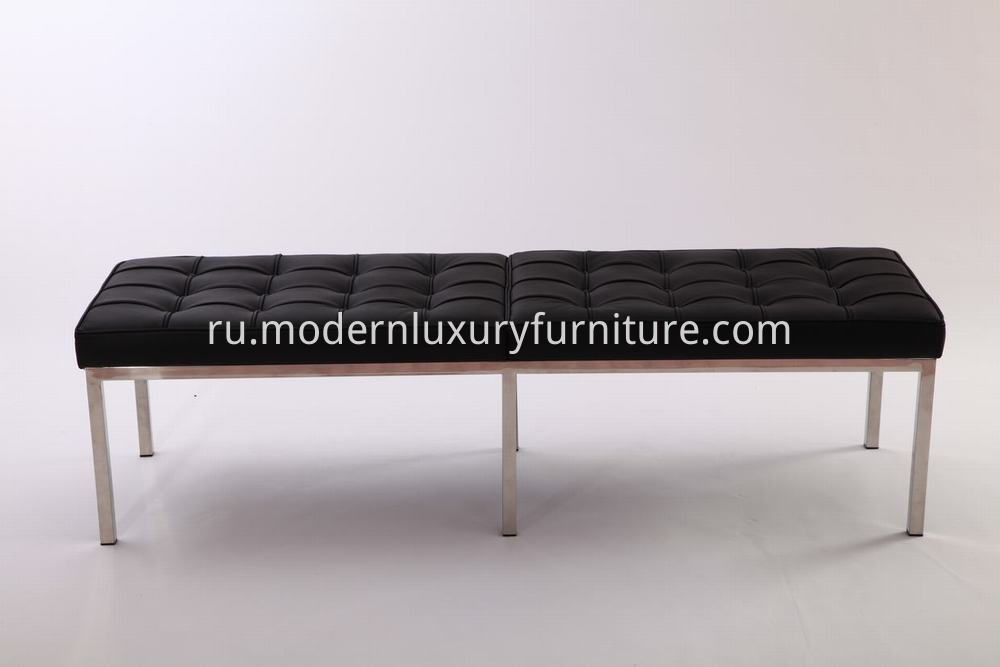 Leather Knoll Bench