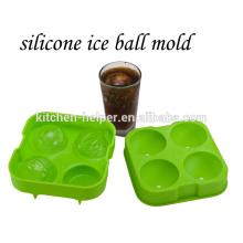 Los moldes de encargo calientes del hielo del silicón del precio mejor