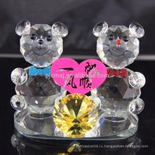 Горячая распродажа прекрасный кристалл плюшевый медведь для свадьба украшение