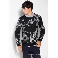 Caliente mezcla de lana de cuello redondo Knit hombres de punto