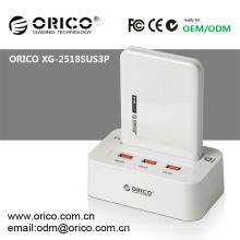 """Station d'accueil HDD à double baie 2.5 """", ORICO XG-2528US3-C avec fonction clone hors ligne"""