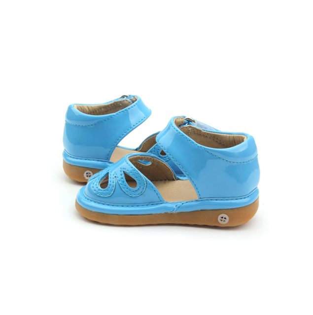New Arrived Perfect Quality Blue Hollow Squeaky Sandals
