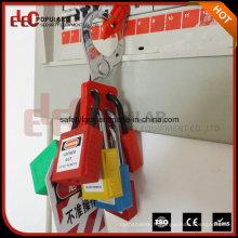 Cadenas de sécurité en plastique avec clé maître