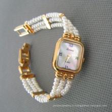 Подлинная жемчужина часы, пресноводные жемчужные часы (WH108)