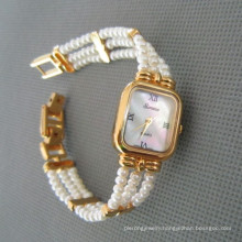 Genuine Pearl Watch, Freshwater Pearl Watch (WH108)
