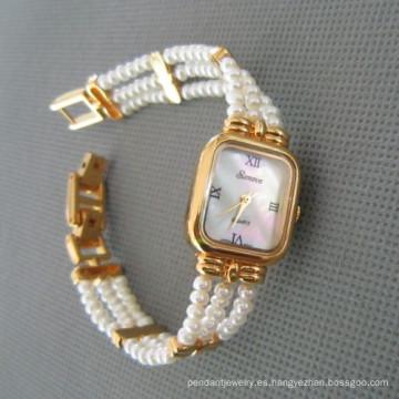 Auténtica perla, reloj del agua dulce perla (WH108)