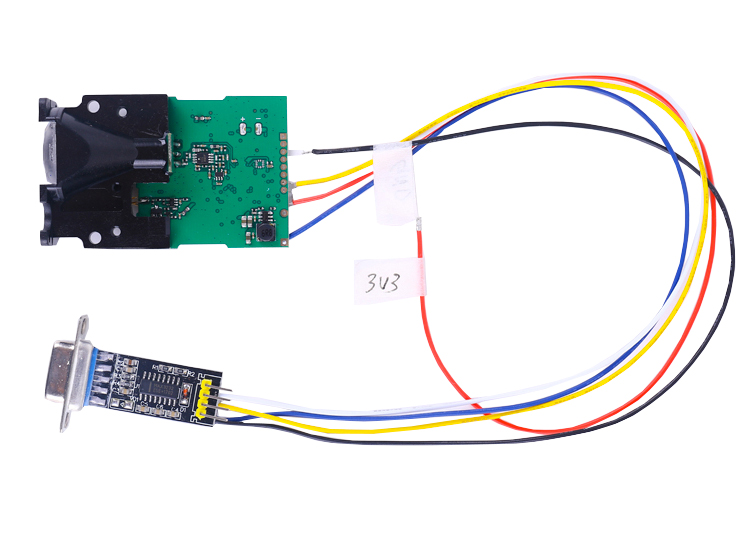 RS232 Distance Sensor Back