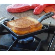 Mini-frigideira quadrada pré-seasoned