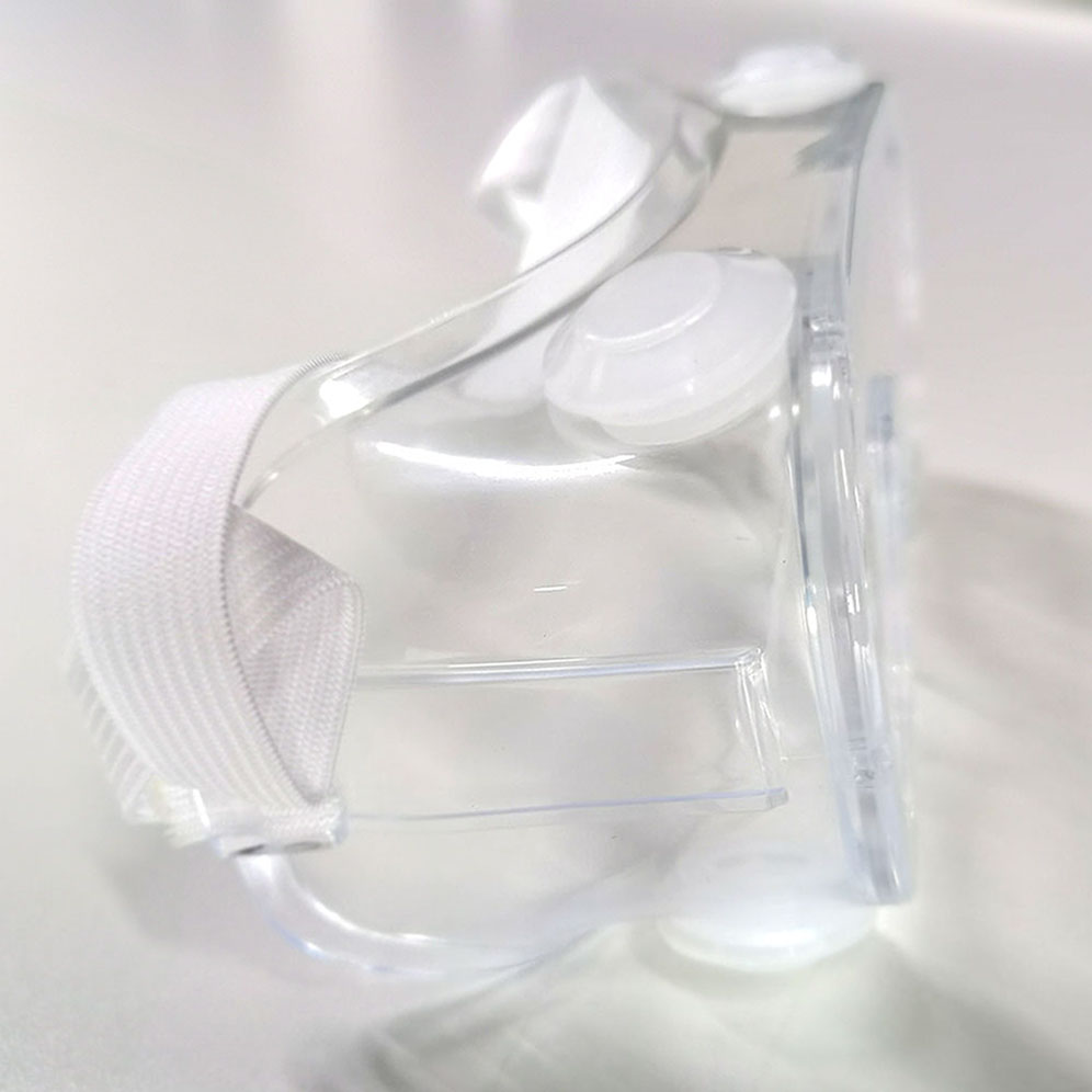 Transparent medical splash-proof isolation glasses