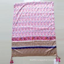 Printed Polyester Paj Emulation Silk Scarf Shawl