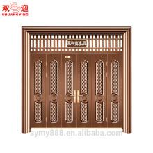 Porte en acier de Mutileaf d'entrée adaptée aux besoins du client par conception chinoise - la maison harmonieuse va bien décorative de sécurité