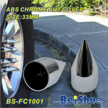 Chrome ABS Plastic Spike Nut Cover for Truck