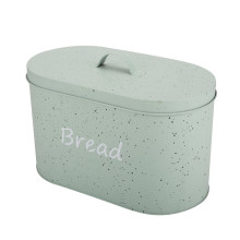 Vintage Oval Metal Bread Box Bread Bin
