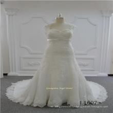 Meerjungfrau Plus Size Lace Wedding Dress2017
