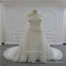 Mermaid Plus Size Lace Wedding Dress2017