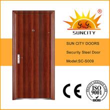Промойте один дизайн безопасности стальные железные двери для экстерьера (СК-S009)