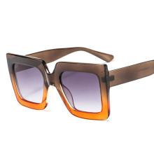 Swiss Brand Women Oversized Rectangular Sunglasses Black Flat Top Two Color Sunglasses
