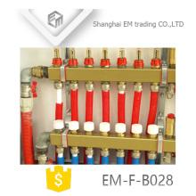 EM-F-B028 Collecteur en laiton pour système de chauffage