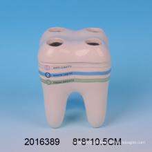 2016 Neuer Ankunfts-reizender keramischer Zähne-Form-Zahnbürsten-Halter