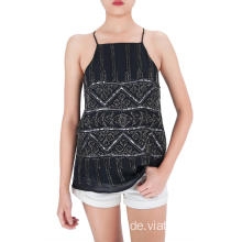Fashion Pailletten und Perlen Party Tanktops
