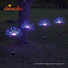 Outdoor Night Light Solar Garden Firework RGB Color Lawn Decorative Light
