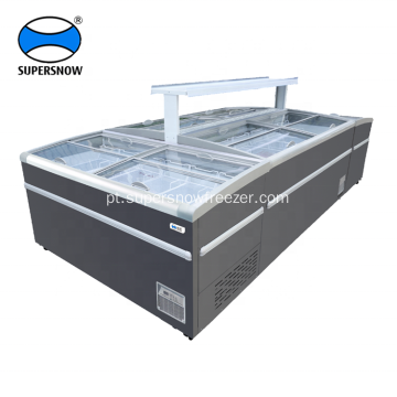 combinar supermercado display freezer