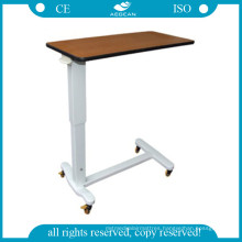 AG-Obt011 Hospital Movable Over Bed Table with Castors