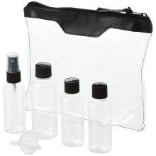 5PCS Travel Bottle Set, Fine Mist Sprayer / Screw Cap Bottle, Mini Funnel