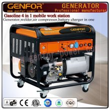 Gasoline 4 in 1 Mobile Work Station Generator, Welder, Air Compressor and Battery Charger