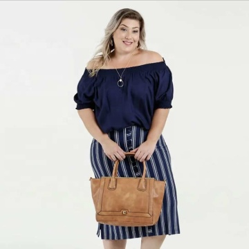 Kvinnor Plus Size Off Shoulder mode blus