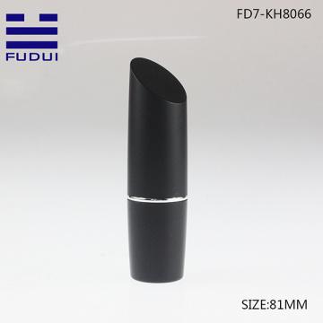 Luxury slant design black  cosmetic lipstick container
