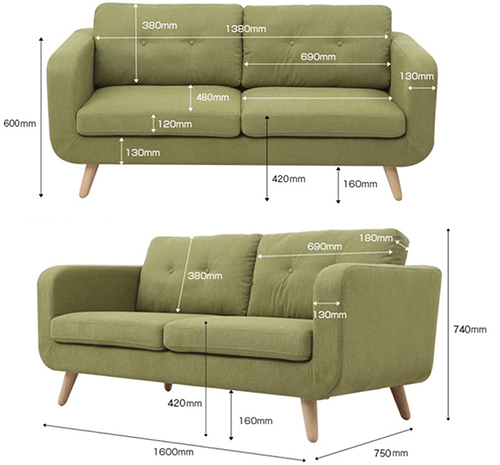Fabric Lounge Sofa Set