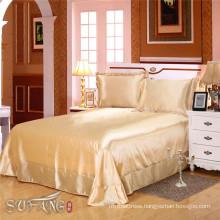 Hotel design bedding sets / luxury south africa satin tencel silk touch beige bedding