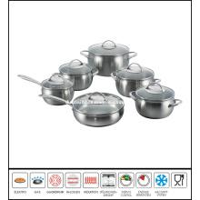 12PCS Stainless Steel Apple Shape Cookware Set