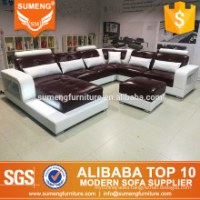 nice style modern cheap comfortable living room leather sectional sofa set