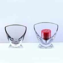 Claro, vidro, triângulo, vela, suporte, (10gc03108)