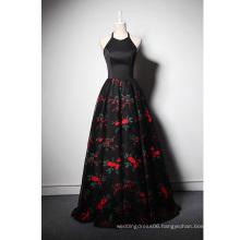 LSQ051 A-line halter neck natural waist prom dress hollywood long prom dress