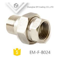 EM-F-B024 Filetage nickelé Brass Union Russia Raccord de tuyau