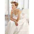 A-Linie Sweetheart Cathedral Train Satin Perlen Brautkleid Lieferant