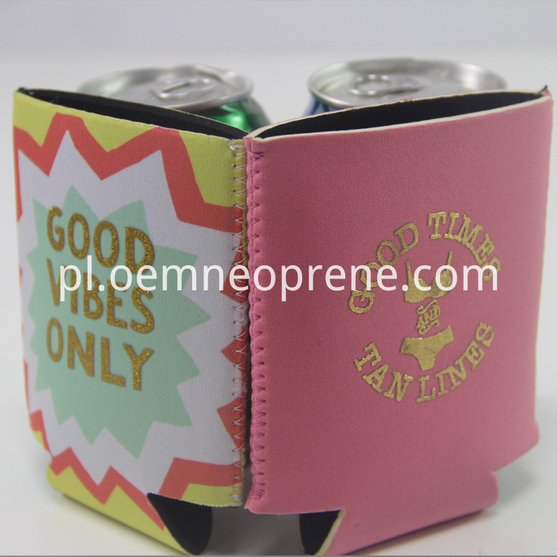 Gold printing Can Cooler