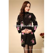 Top quanlity spring print ladies formal long trench coat mulheres slim overcoat