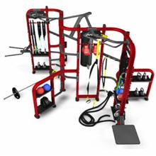 Grupo de entrenamiento de fitness gimnasio equipo Synrgy360