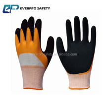 13 G knit glove dipped latex half and sandy safety gloves