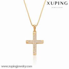 32292 Xuping colgante en forma de cruz de color blanco circonio para regalos de Navidad