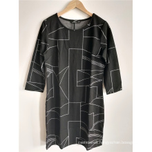 Women's Loose Dress With A Round Neck