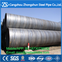 SSAW spiral pipe/Round Black Carbon Spiral Welded Steel Pipe
