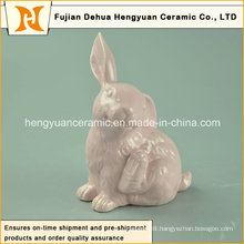 Ceramic Easter Rabbit Figurines for Small Ornament