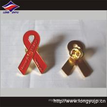 Custom Ribbon Shape Metal Badge of Epoxy Color