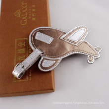 Promotional Plane PU Leather Luggage ID Tag with Logo (B1006)