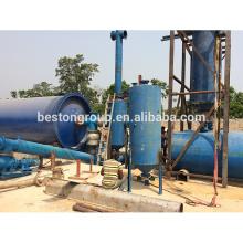 Alta tasa de extracción de aceite combustible de residuos de caucho a la planta de tratamiento de basura planta de aceite con calidad certificada